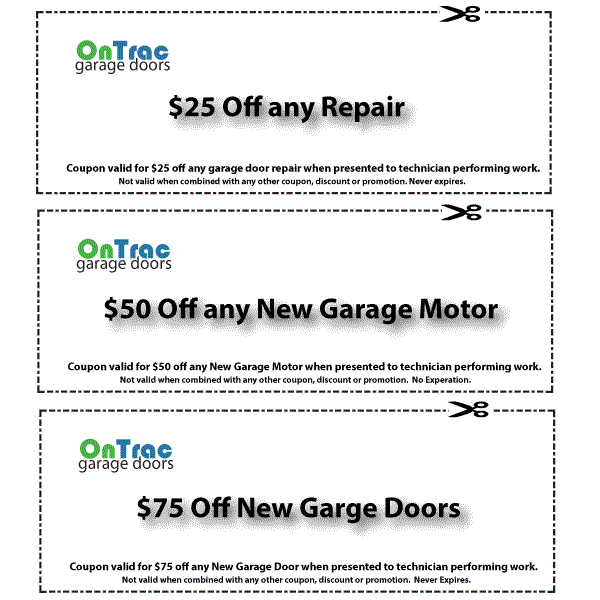 Belmont Garage Door Service Coupon